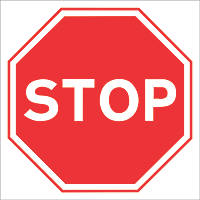 """""""Stop"""" Sign 450 x 450mm"""