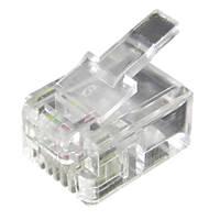 Philex RJ11 6P/4C Connector Plug 100 Pack