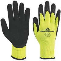 Delta Plus Apollon VV735 Latex Thermal Work Gloves Yellow/Black Large
