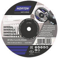 "Norton   Cutting Disc 5"" (125mm) x 1.6 x 22.23mm 5 Pack"