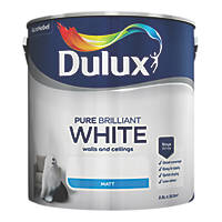 Dulux Matt Emulsion Paint Pure Brilliant White 2.5Ltr