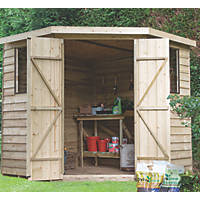 Forest  9' x 7' (Nominal) Flat Overlap Timber Shed