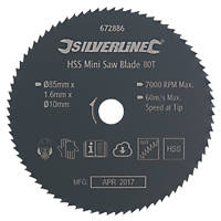 Mini Circular Saw Blade 85 x 10mm 80T