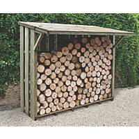 Forest Flip Roof Log Store - Large