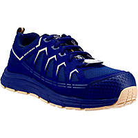 Skechers Malad Metal Free  Safety Trainers Navy/Tan Size 6