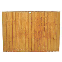 Forest Feather Edge Fence Panels 1.82 x 1.2m 3 Pack