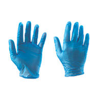Cleangrip  Vinyl Powdered Disposable Gloves Blue Large 100 Pack