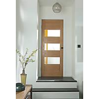Jeld-Wen  3-Clear Light Unfinished Oak Veneer Wooden Cottage Internal Door 1981 x 610mm