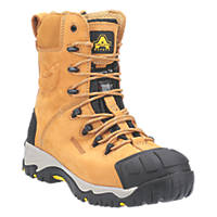 Amblers FS998 Metal Free  Safety Boots Honey Size 7