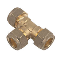 Flomasta   Compression Equal Tees 15mm 2 Pack