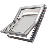 Site  Manual Centre-Pivot White Roof Window Clear 540 x 780mm