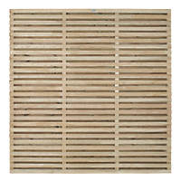 Forest VENHHM6PK5HD Double-Slatted  Fence Panel 6 x 6' Pack of 5