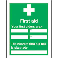 """""""Your First Aider"""" Notice Sign 400 x 300mm"""