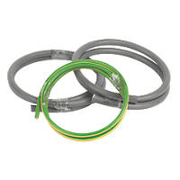 Prysmian 6181Y & 6491X Grey & Green/Yellow 1-Core 25mm² Meter Tails Cable 1m Coil