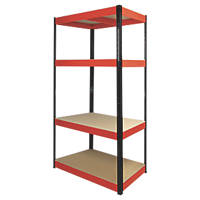 RB Boss Powder-Coated Boltless Freestanding Shelving 4-Tier 900 x 400 x 1800mm