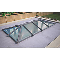 ATT Fabrications Ltd Clear Glass Roof Lantern Grey 4000 x 2000mm