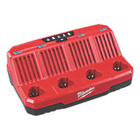 Milwaukee M12 C4 12V Li-Ion RedLithium 4-Bay Multi-Charger