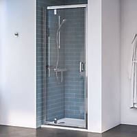 Aqualux Edge 8 Pivot Shower Door Polished Silver 900 x 2000mm