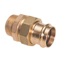 "Conex Banninger B Press  Copper Press-Fit Adapting Male Union Coupler 15mm x ½"" 5 Pack"