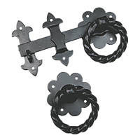 Smith & Locke Gate Latch Antique Black 240mm