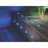 Decking lights outdoor lights screwfix lap apollo led deck light kit polished stainless steel blue 005w 10 pack aloadofball Gallery