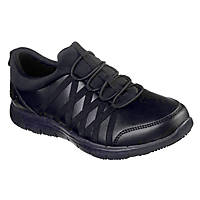 Skechers Ghenter Dagsby Metal Free Ladies Non Safety Shoes Black Size 8