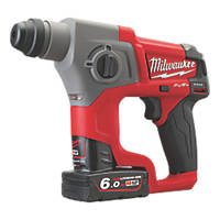 Milwaukee M12 CH-602X FUEL 1.9kg 12V 6.0Ah Li-Ion RedLithium Brushless Cordless SDS Plus Drill