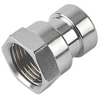 Tectite Sprint  Brass Push-Fit Adapting Female Iron Coupler 15mm x ½""