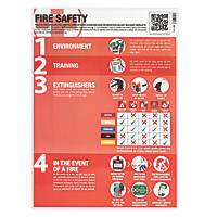 Fire Safety Poster 594 x 420mm