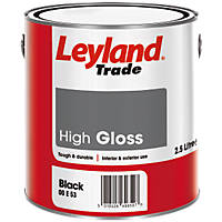 Leyland Trade Gloss Paint Black 2.5Ltr