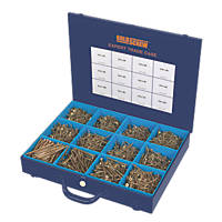 Goldscrew Plus PZ Double Self-Countersunk Woodscrews Expert Trade Case 2800 Pcs
