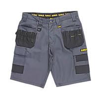 "DeWalt Ripstop Multi-Pocket Shorts Grey / Black 32"" W"