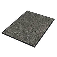 COBA Europe Vyna-Plush Entrance Mat Black / Steel 1200 x 900mm