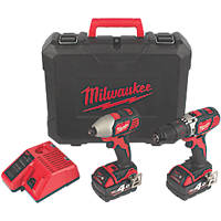 Milwaukee M18 BPP2Q-402C 18V 4.0Ah Li-Ion RedLithium  Cordless Twin Pack