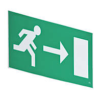 LAP  Reversible Emergency Lighting Hanging Exit Right/Left Sign 160 x 380mm