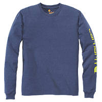 """Carhartt Graphic Long-Sleeve T-Shirt Blue Large 48"""" Chest"""
