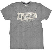 """Site Industrial T-Shirt Grey X Large 46-48"""" Chest"""