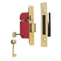 ERA Brass Effect BS 5-Lever Mortice Sashlock 64mm Case - 44mm Backset