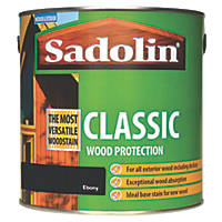 Sadolin Classic Woodstain Matt Ebony 2.5Ltr