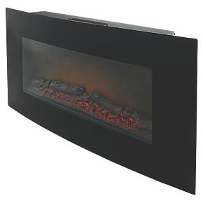 Blyss Dovhy Black Remote Control Wall Mounted Electric