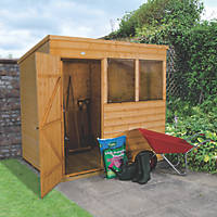 Forest 7' x 5' (Nominal) Pent Shiplap Timber Shed with Base & Assembly