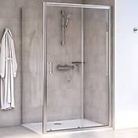 Aqualux Edge 6 Rectangular Shower Enclosure LH/RH Polished Silver 1000 x 700 x 1900mm