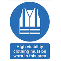 """""""Hi-Visibility Clothing Must Be Worn In This Area"""" Sign 420 x 297mm"""