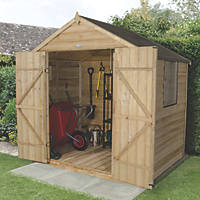 Forest 7' x 5' (Nominal) Apex Overlap Timber Shed with Assembly