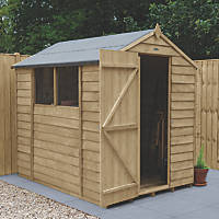 Forest  5' x 7' (Nominal) Apex Overlap Timber Shed