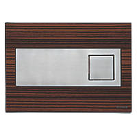 Fluidmaster Schwab Circle 12316 Dual-Flush Flushing Plate Zebrano Wood Effect