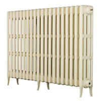 Arroll  4-Column Cast Iron Radiator 760 x 1234mm Cream 6203BTU