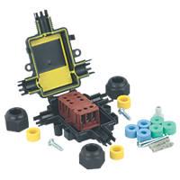 Teebox IP67 Mini T-Junction with Tee Block