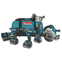 Makita DLX4122TX1 18V 5.0Ah Li-Ion LXT Brushless Cordless 4-Piece Kit