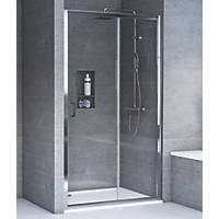 Aqualux Rectangular Shower Door & Tray Reversible 1200 x 760 x 1935mm